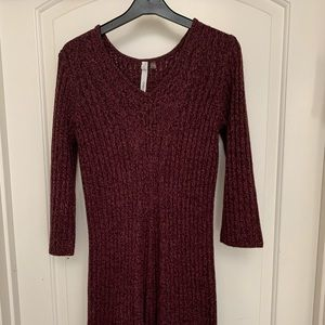 Modest Maroon Warm Dress